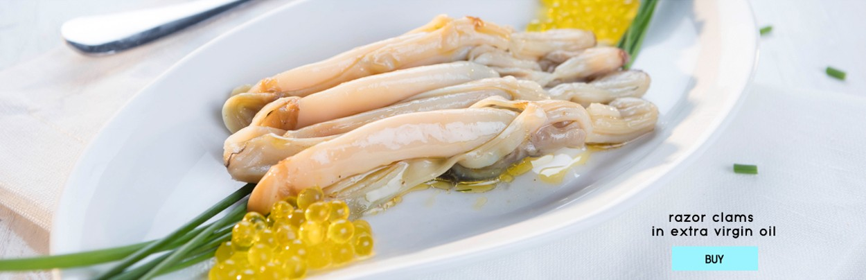 Razor Clams in Olive Oil